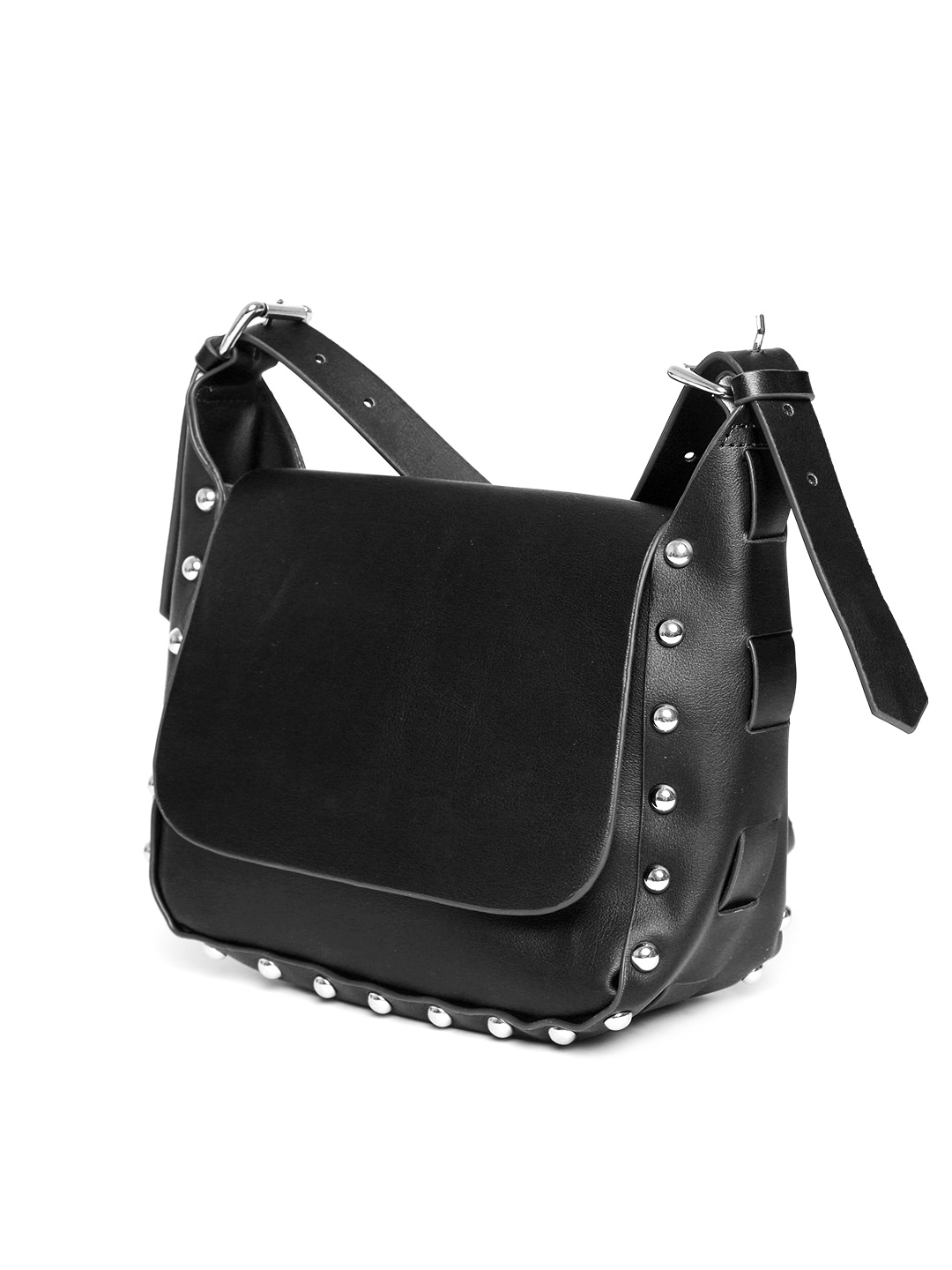 MANGO Black Studded Sling Bag for Women Price in India on 14-06 ...