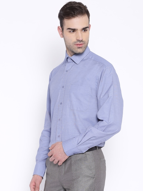 Peter-England-Blue-Nuvo-Fit-Formal-Shirt