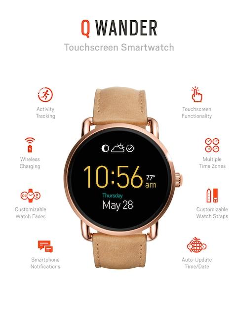 Fossil-Q-Wander-Brown-Touchscreen-Smart-Watch