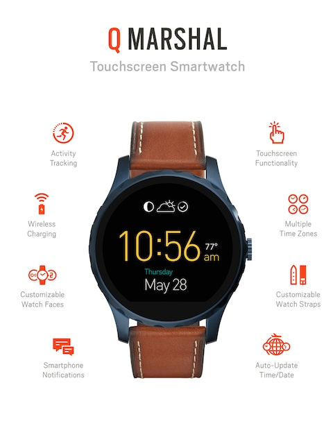 Fossil-Q-Marshal-Brown-Touchscreen-Smart-Watch