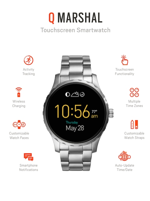 Fossil-Q-Marshal-Stainless-Steel-Touchscreen-Smart-Watch