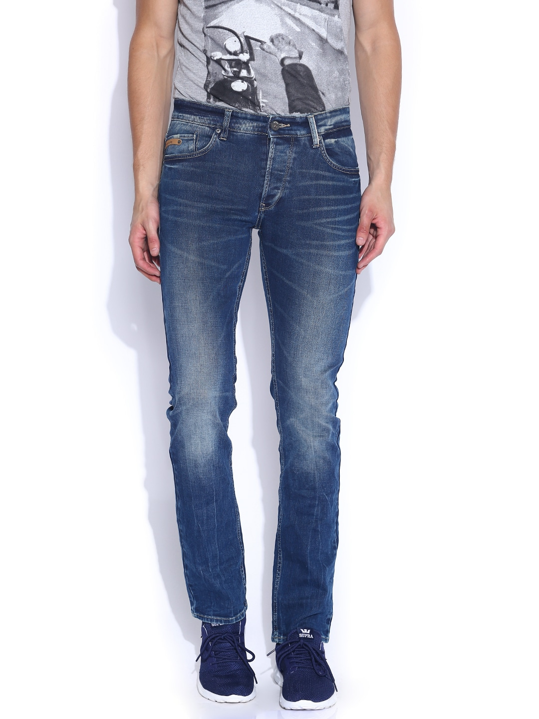 Buy SPYKAR Blue Low Rise Rico Narrow Fit Jeans