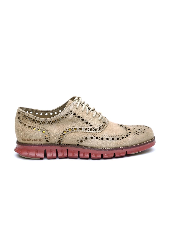 buy cole haan beige zerogrand suede casual shoes