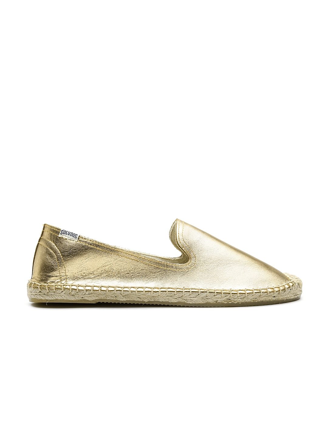 Soludos Women Gold-Toned Leather Espadrilles