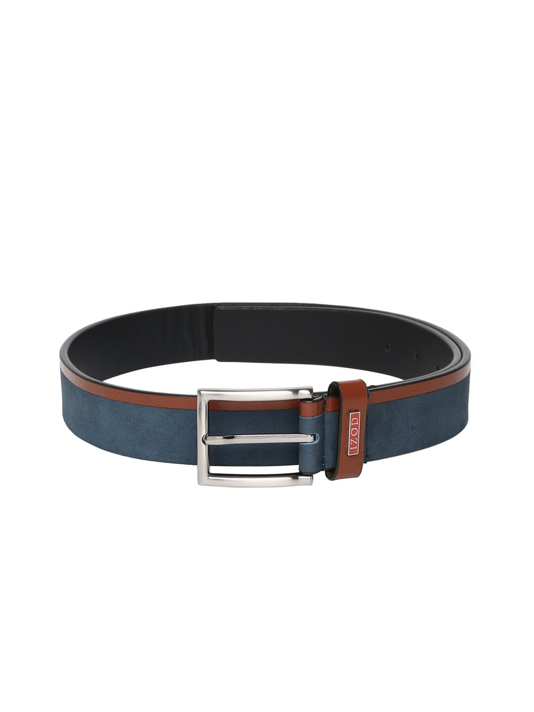 IZOD Men Dark Navy Leather Belt