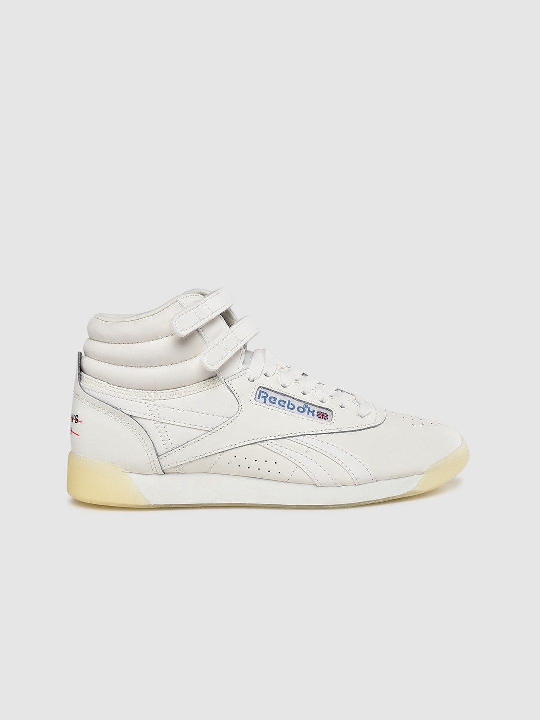 Reebok Classic Women Off-White Freestyle Hi Leather Sneakers