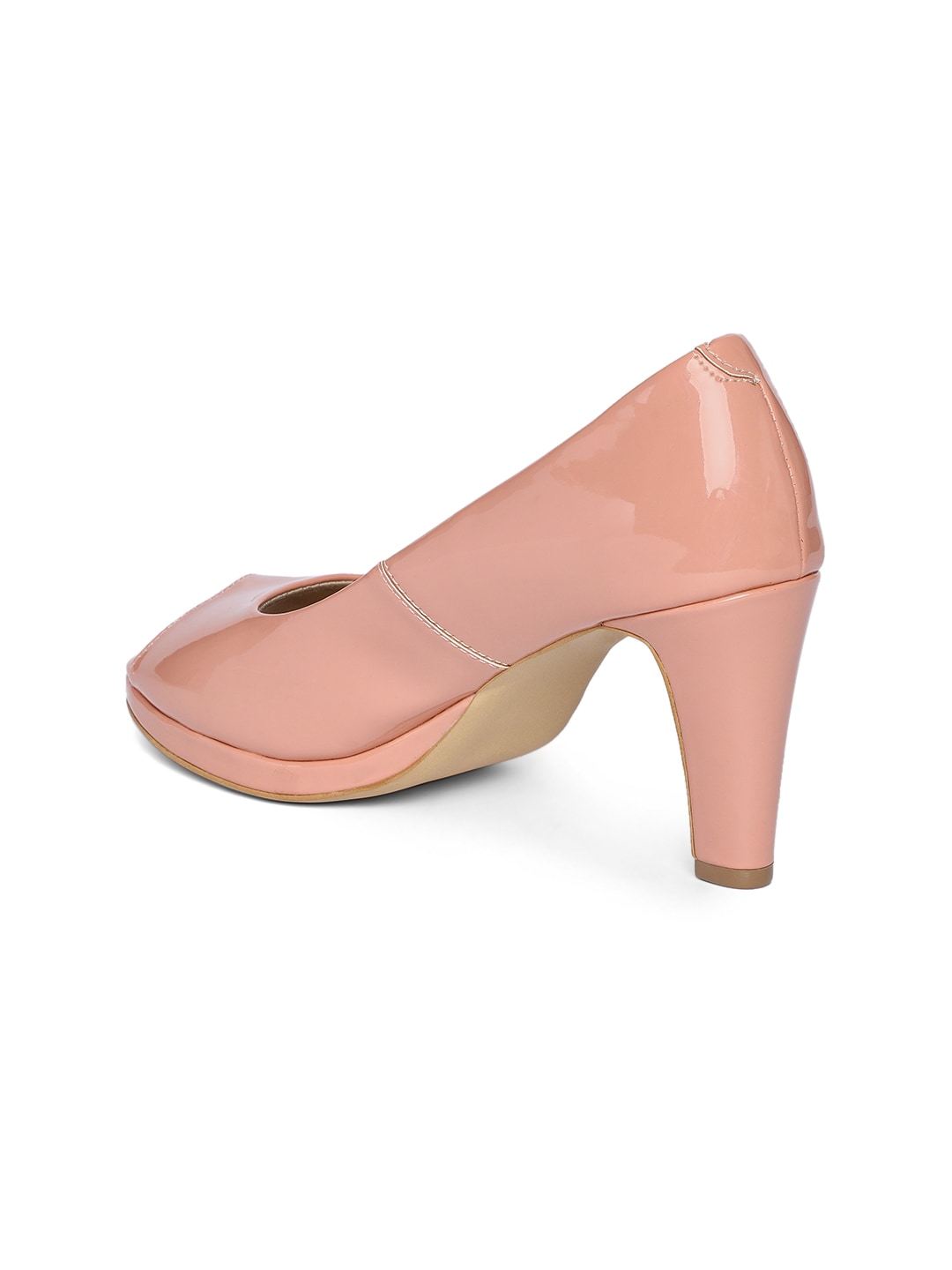 Inc 5 Women Nude-Coloured Solid Peep Toes