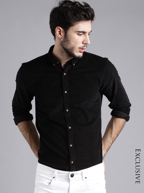 Shirts For Men Buy Mens Shirt Online In India Myntra Tendencies Short Basic Long Collar Less Wine Burgundy L