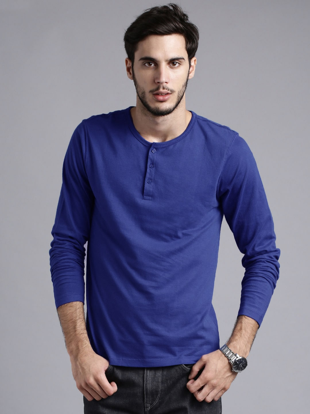 94b1888b1c Henley Tshirts - Buy Henley T-shirts for Men   Women Online - Myntra