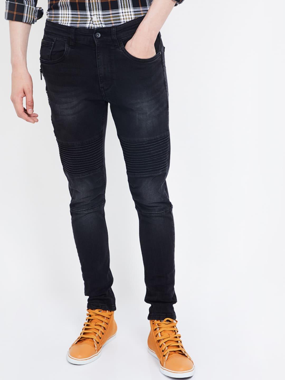 Bossini Men Black Slim Fit Mid-Rise Clean Look Jeans