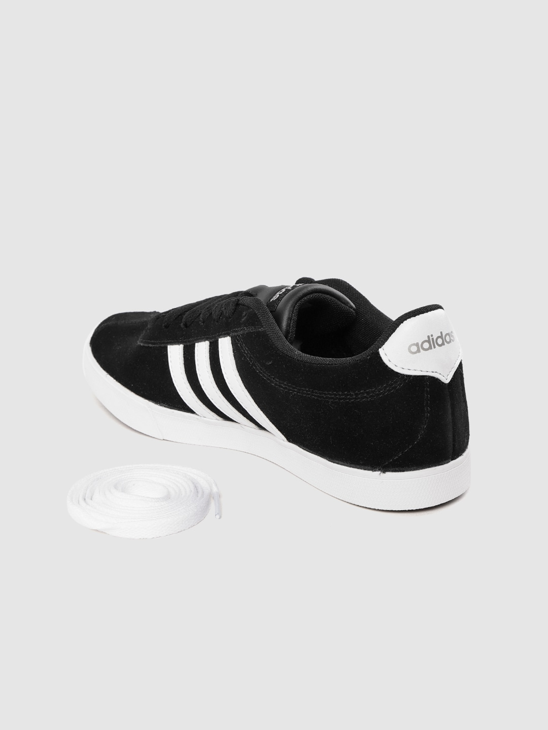 ADIDAS Women Black Solid Suede CourtSet Sneakers