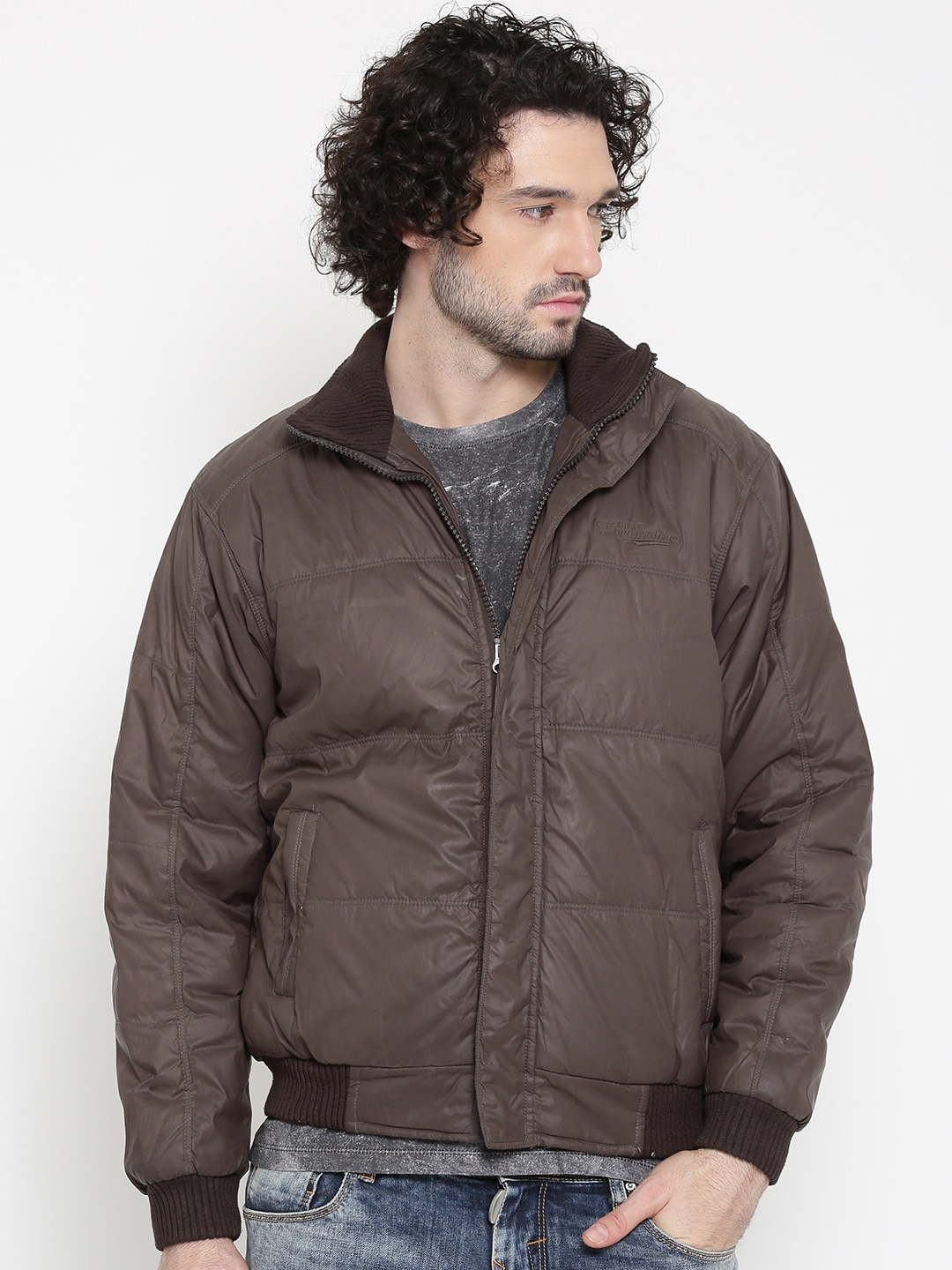 Buy Locomotive Brown Padded Jacket - Jackets for Men | Myntra