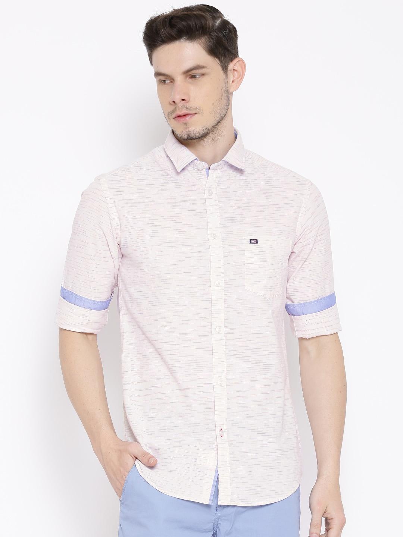 Men Light Pink Shirt - Buy Men Light Pink Shirt online in India