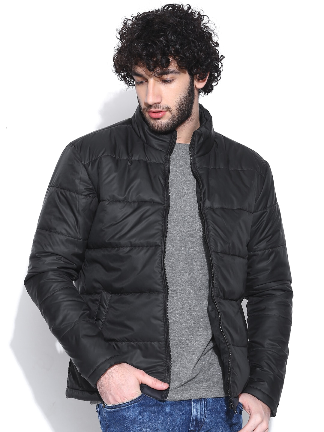 ce8d6f10d Buy NU ECO By Numero Uno Blue Jacket - Jackets for Men | Myntra