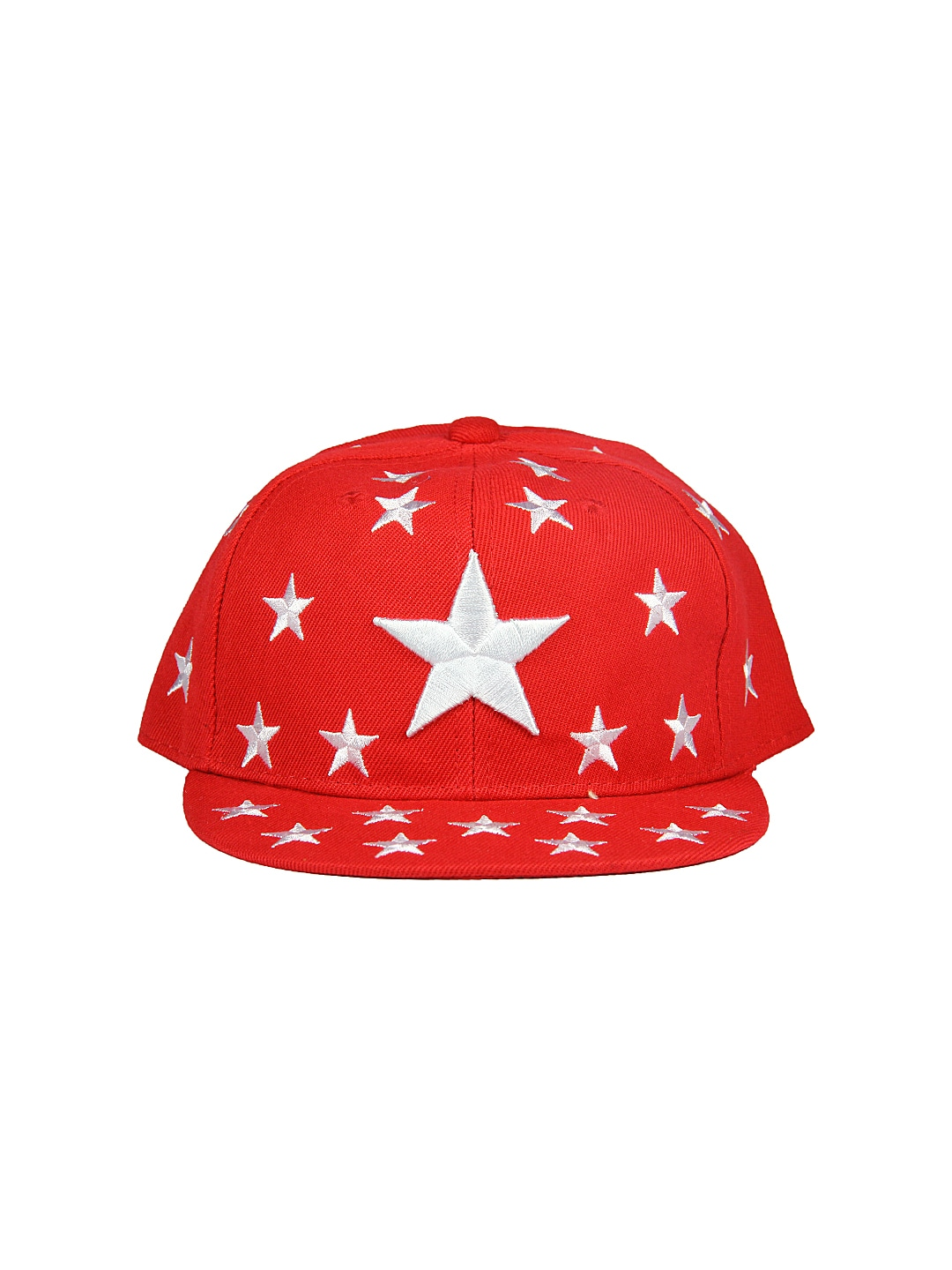 FabSeasons Men Red Embroidered Cap