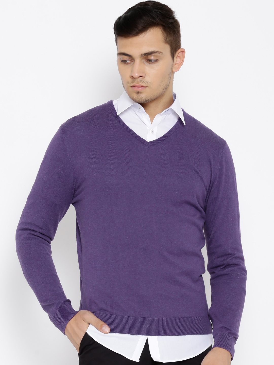 Buy Peter England Blue Sweater - Sweaters for Men | Myntra