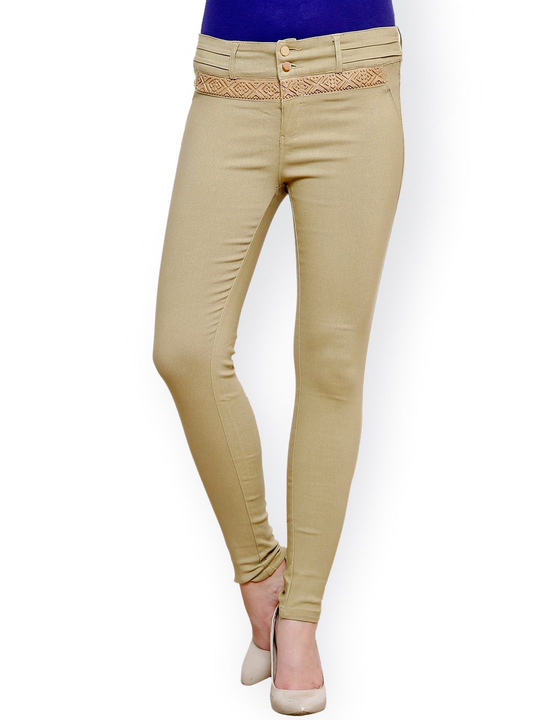 Westwood Beige Slim Fit Jeggings