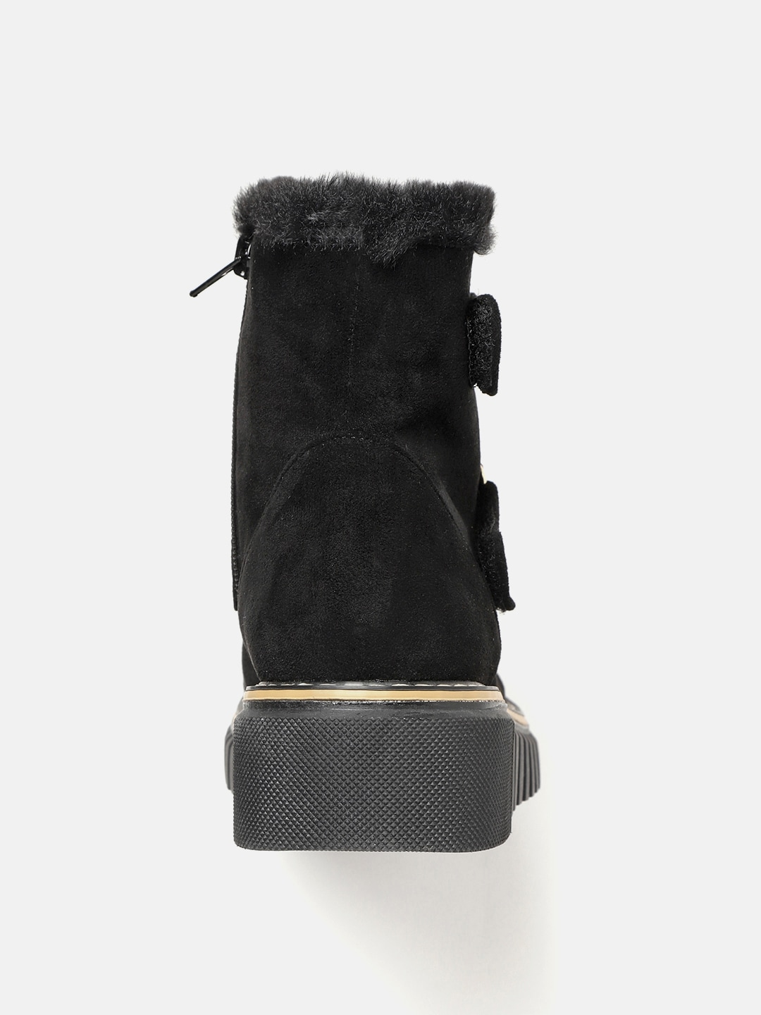 Roadster Women Black Solid Mid-Top Flat Boots