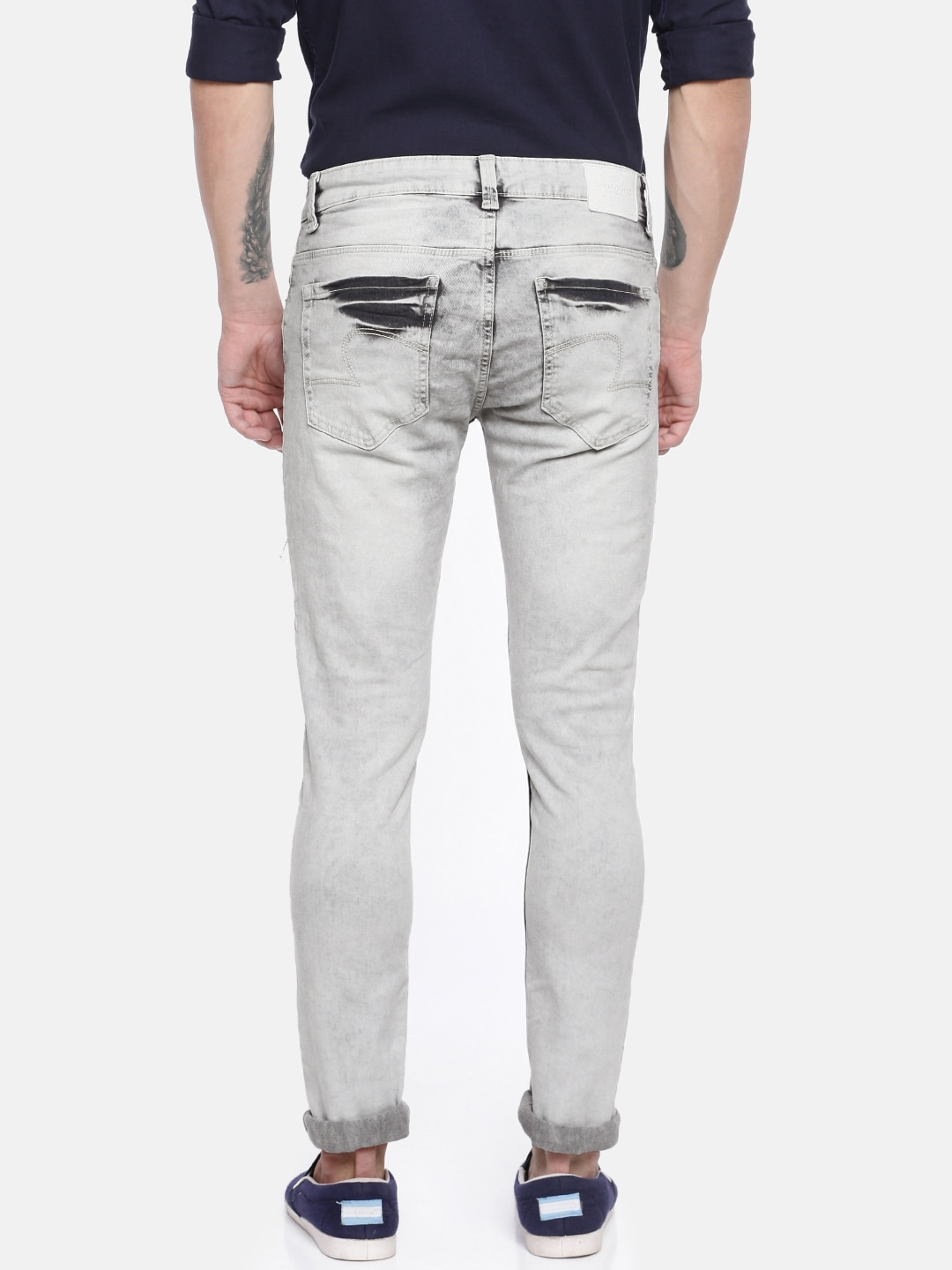 SPYKAR Men Grey Ultra Skinny Fit Low-Rise Clean Look Stretchable Jeans