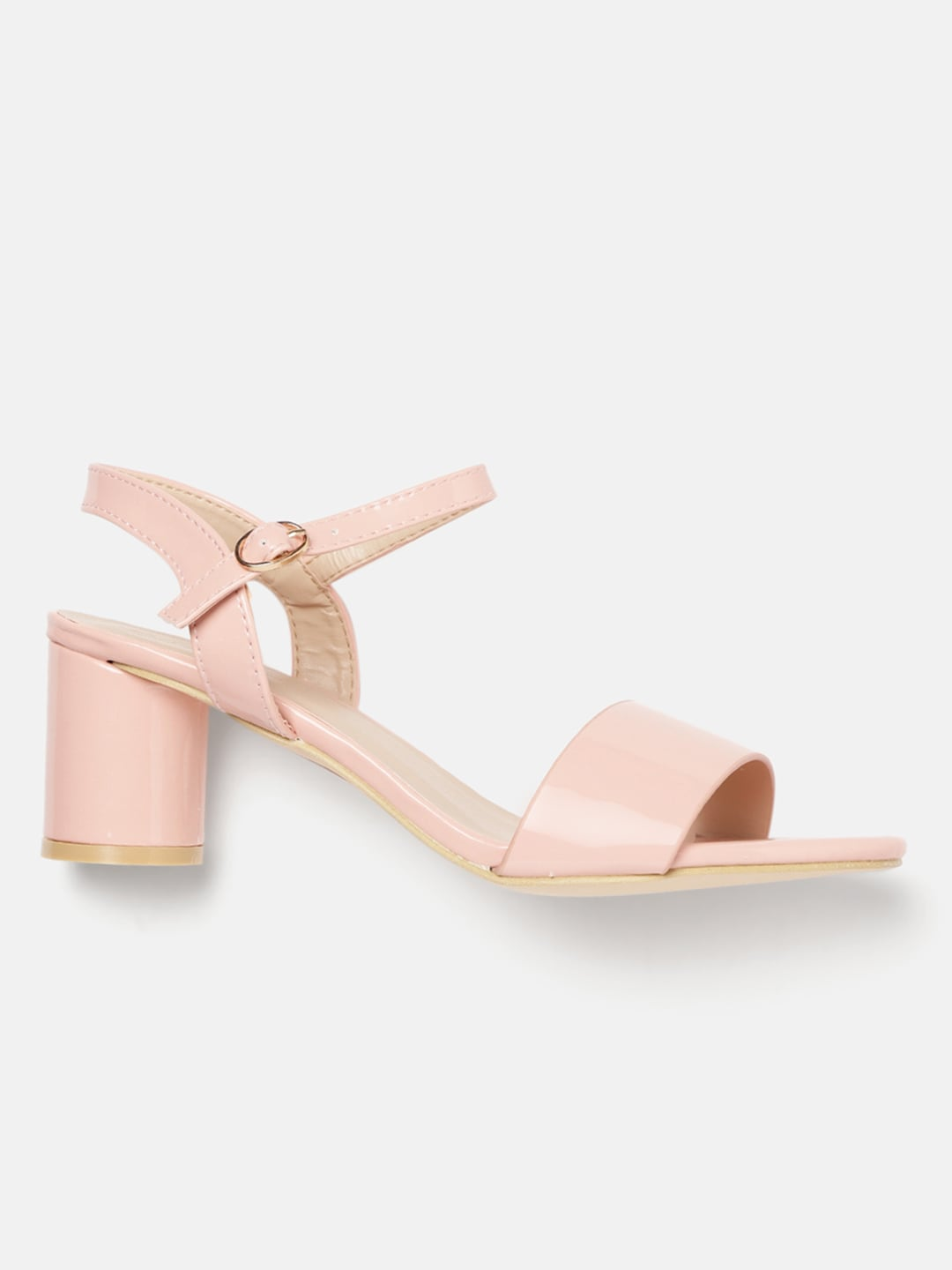 Mast & Harbour Women Pink Solid Block Heels