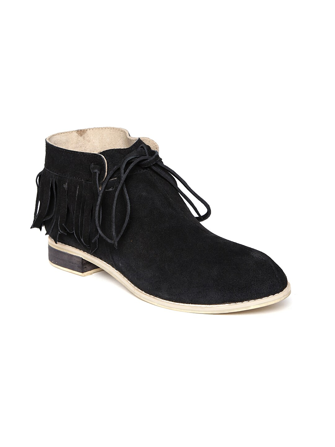 Zebba Women Black Suede Boots