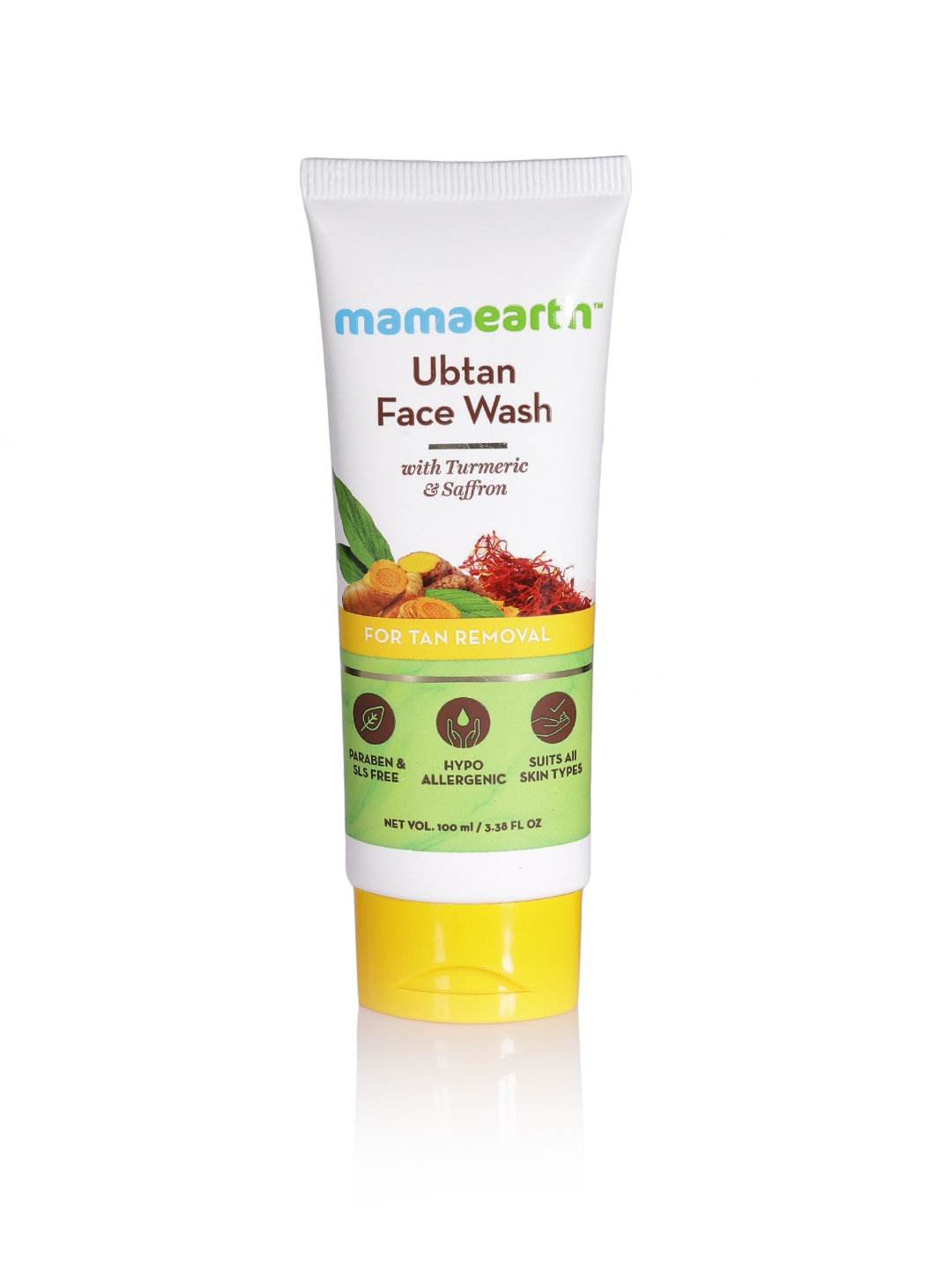Mamaearth Unisex Ubtan Tan Removal Sustainable Face Wash 100 ml