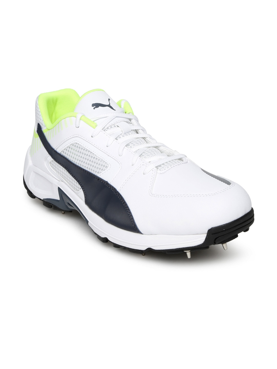 buy white team spike cricket shoes sports