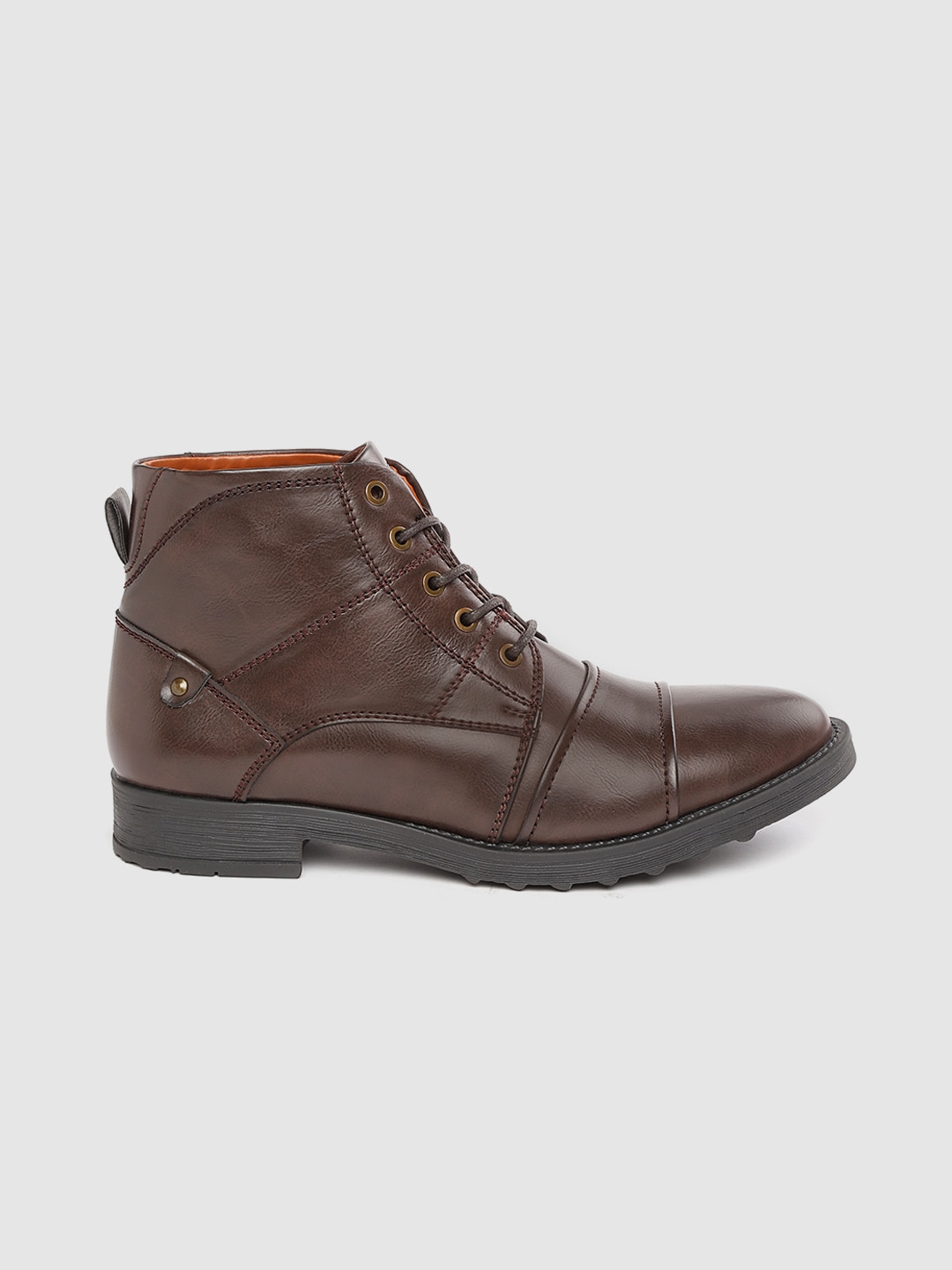 Roadster Men Coffee Brown Solid Flat Boots