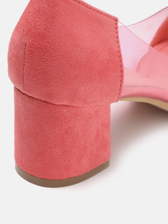Lavie Women Coral Pink Solid Pumps