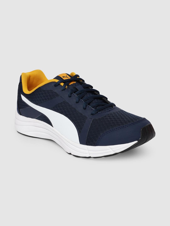 Puma Men Navy Blue & White Voyager IDP Running Shoes