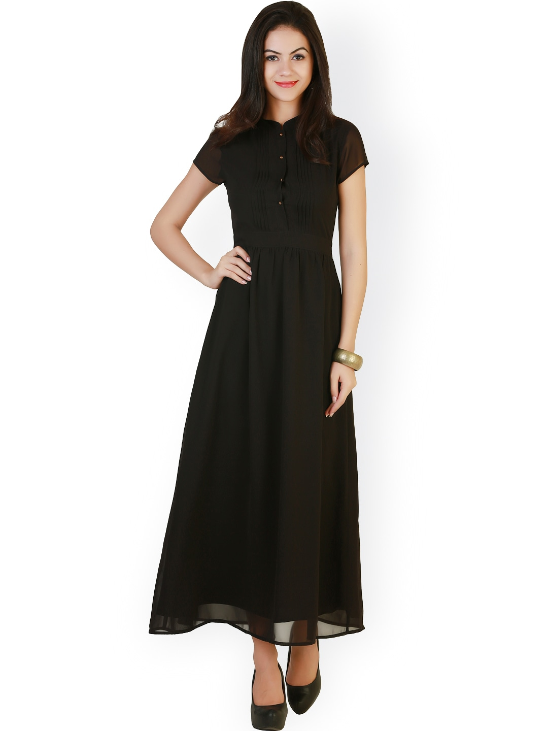 Miaminx 3 4th sleeve black dress