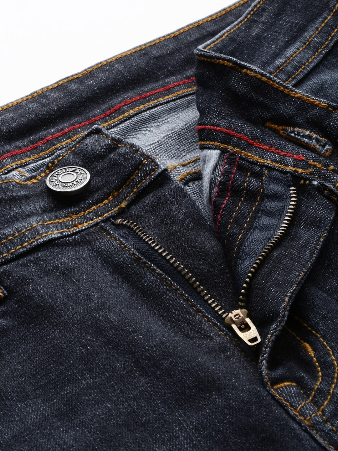 American Crew Men Blue Slim Fit Mid-Rise Clean Look Stretchable Jeans