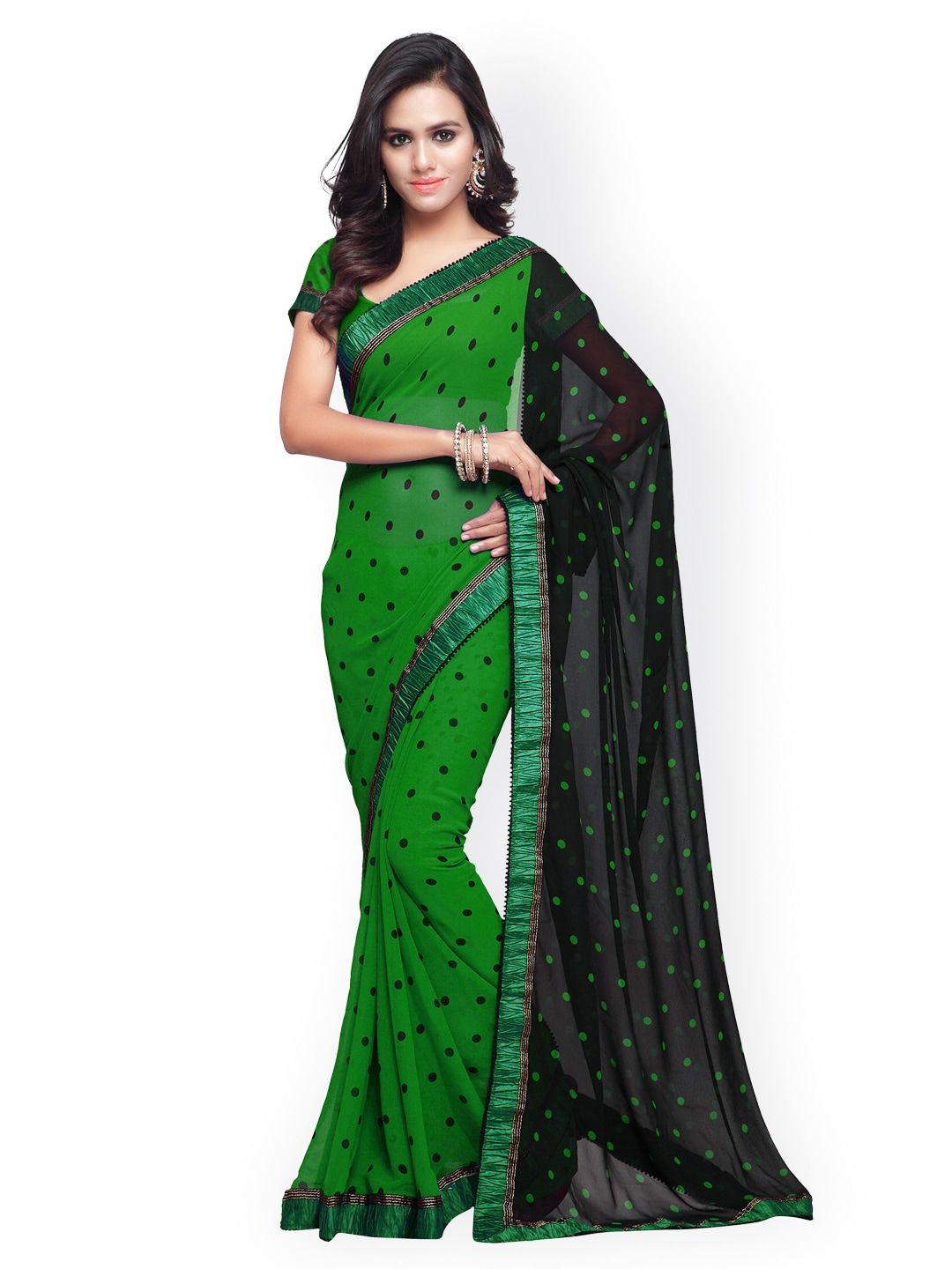 7f30517182 Yellow Green Sarees Fashion - Buy Yellow Green Sarees Fashion online in  India