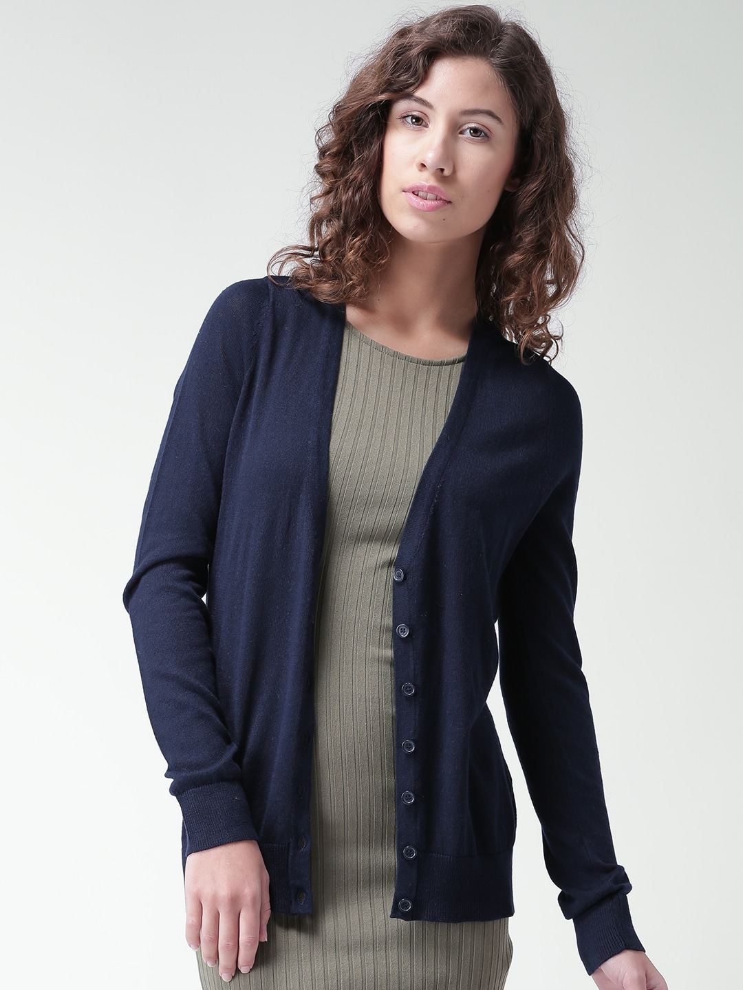Buy FOREVER 21 Peach Coloured Cardigan - Sweaters for Women | Myntra