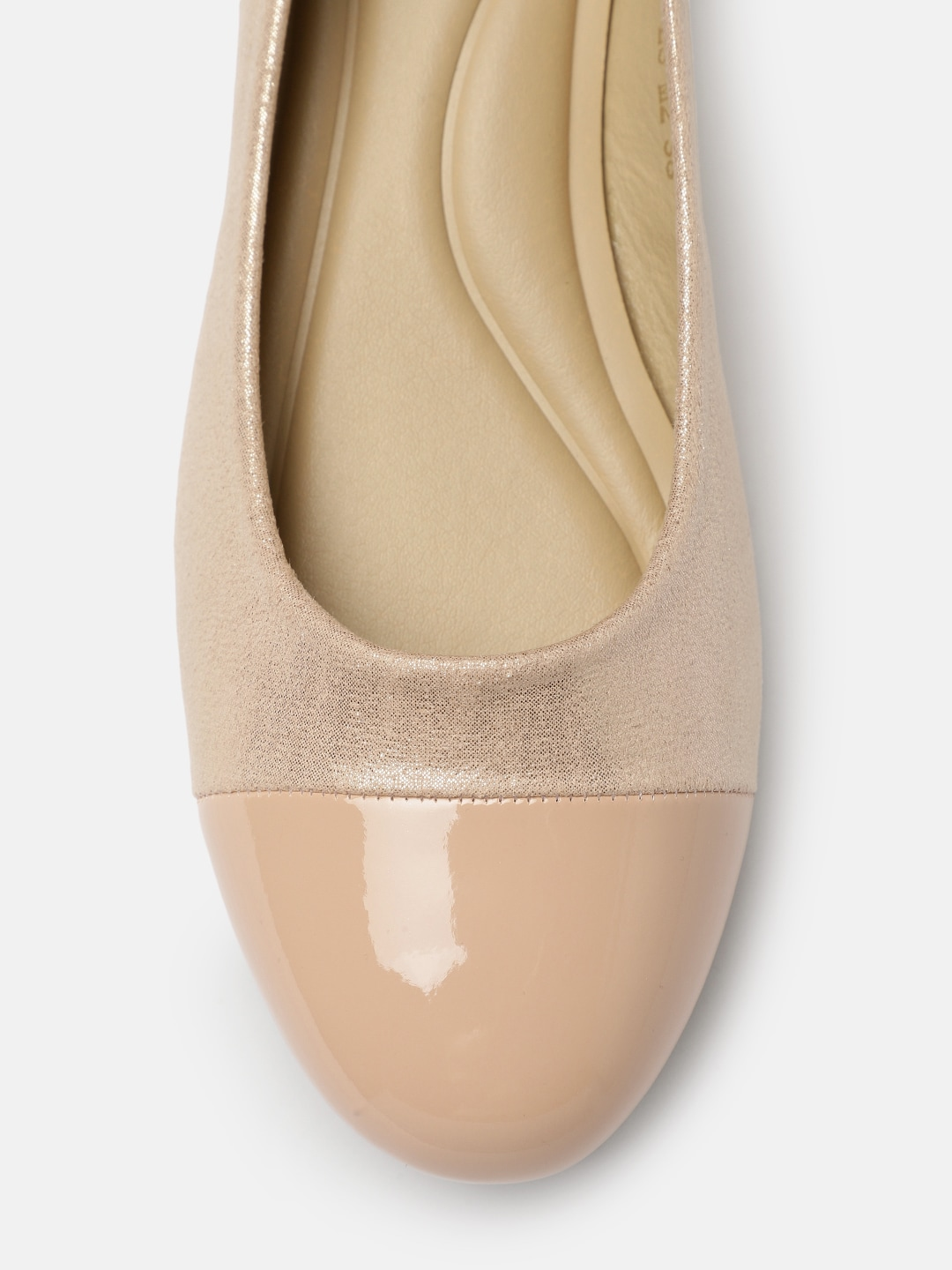 Tresmode Women Nude-Coloured Solid Ballerinas