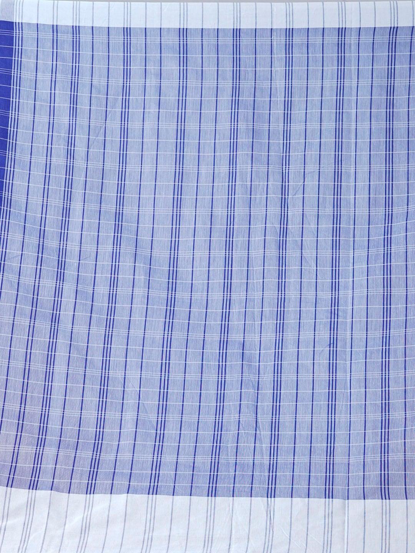 Unnati Silks Blue Silk Cotton Striped Chanderi Saree