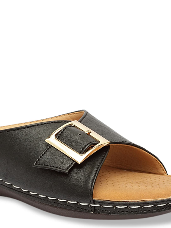 Butterflies Women Black Solid Open Toe Flats