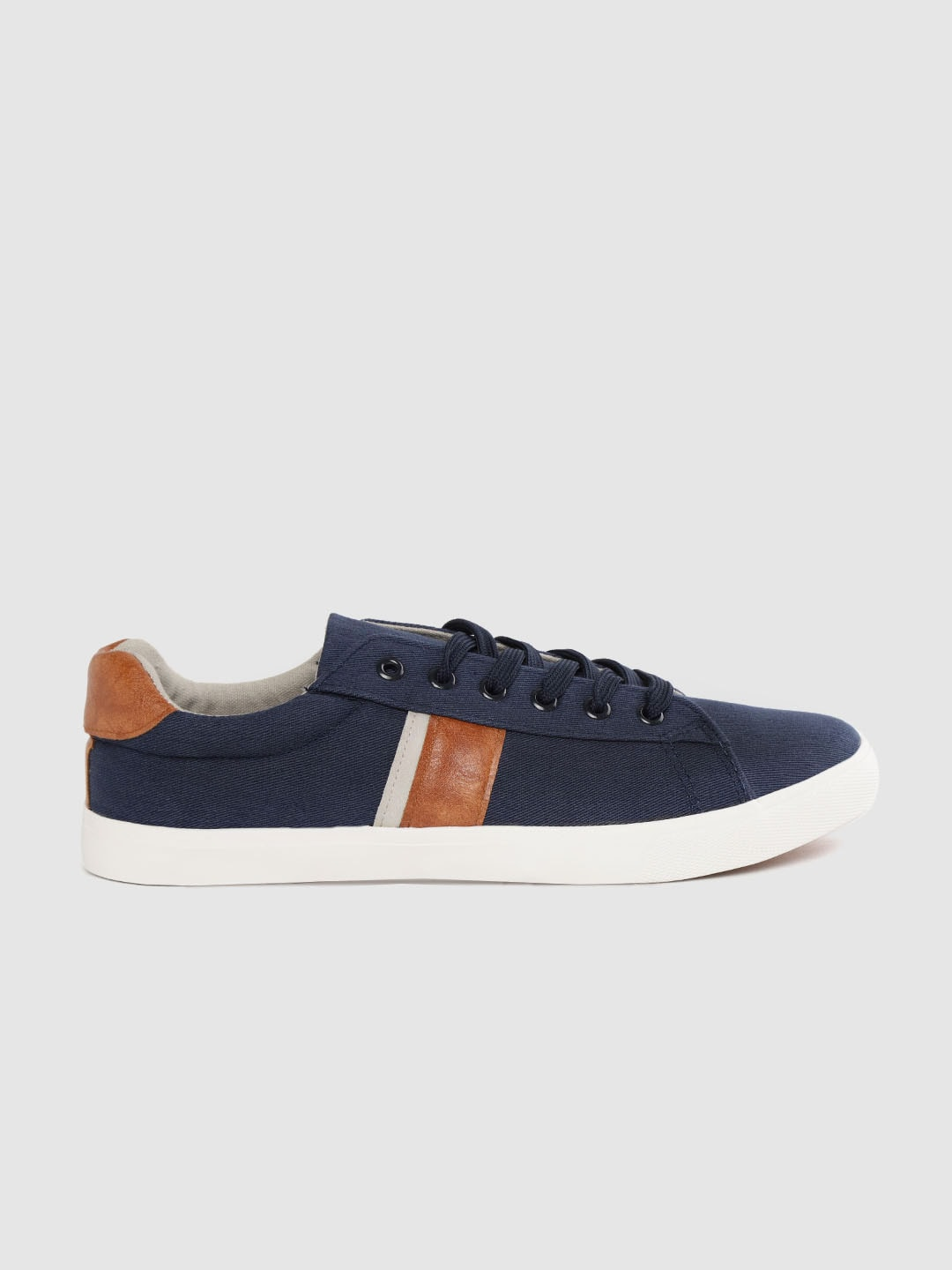 Mast & Harbour Men Navy Blue Solid Sneakers