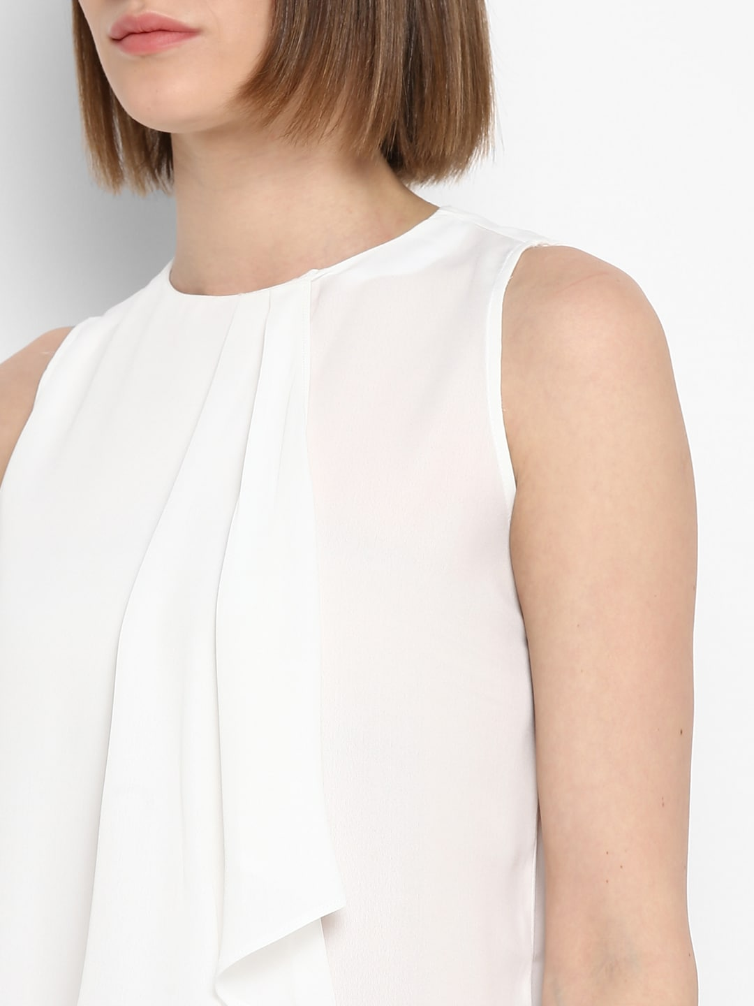 Mode by Red Tape Women White Solid Top