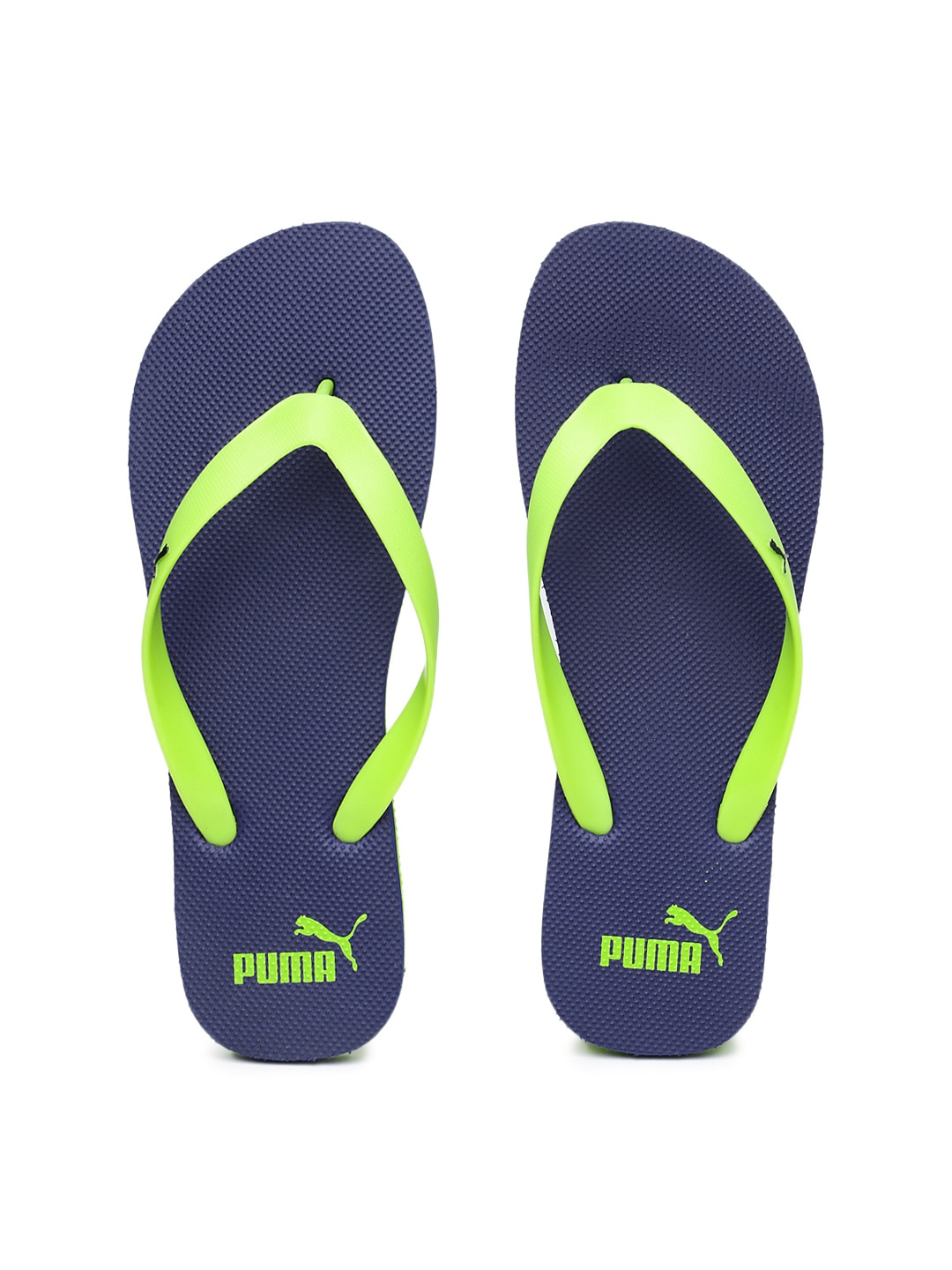 buy puma men neon green navy flip flops flip flops for. Black Bedroom Furniture Sets. Home Design Ideas