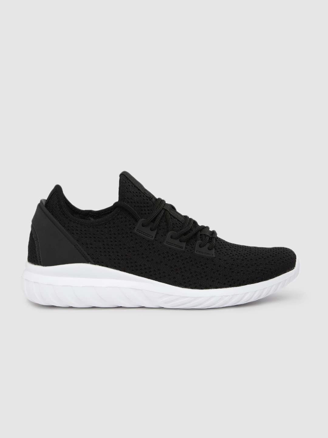 HRX by Hrithik Roshan Men Black Knit Run 1.0  Running Shoe