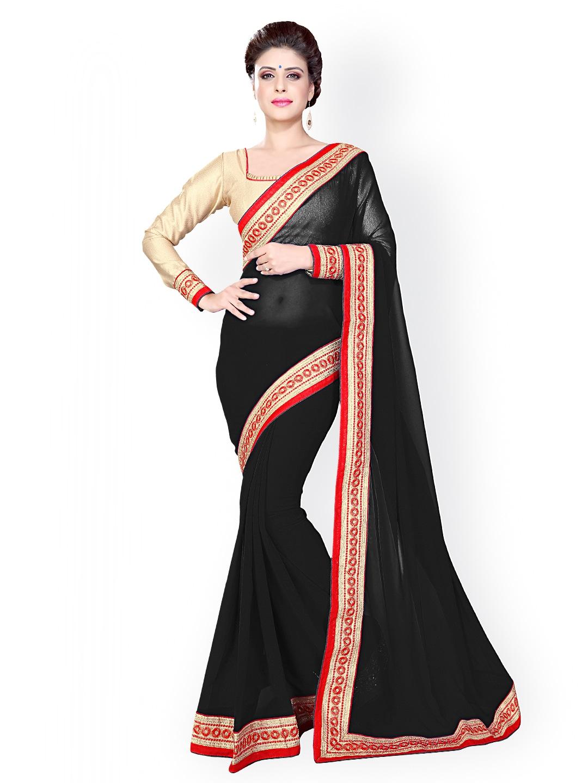 Mirchi Fashion Black Saree