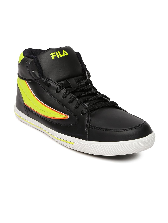 FILA Men Black & Neon Green Streetmate II Casual Shoes
