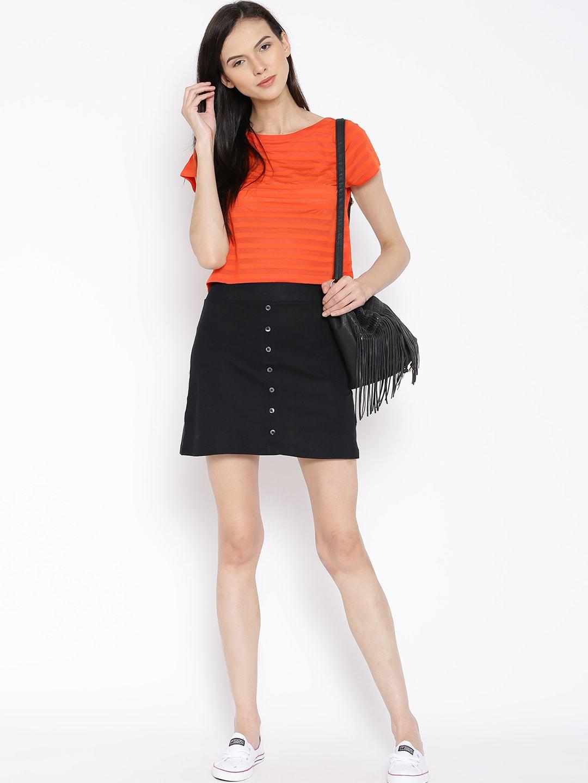 Buy Rattrap Black Mini A Line Skirt - Skirts for Women | Myntra