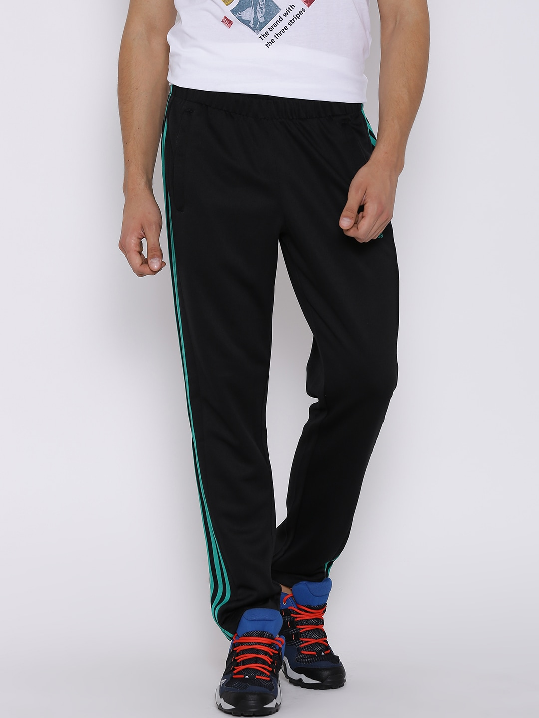 Don't get confused names, joggers are sweatpants which are tapered from the bottom and track pants are the simple sweatpants which are used for the athletic purpose or even in home, these are meant to be relaxing. joggers can be classified as track pants as they can also be used for the same purpose, but they have a small addition that they are tapered from the bottom for the trending ankle show.