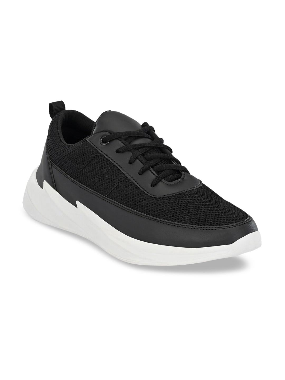 Mactree Men Black Mesh Walking Shoes