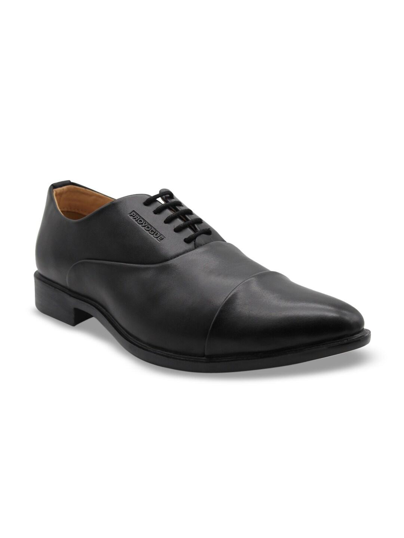 Provogue Men Black Solid Formal Oxfords