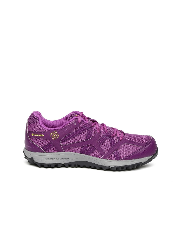Columbia Women Purple Conspiracy Switchback II Omni-Tech Outdoor Shoes