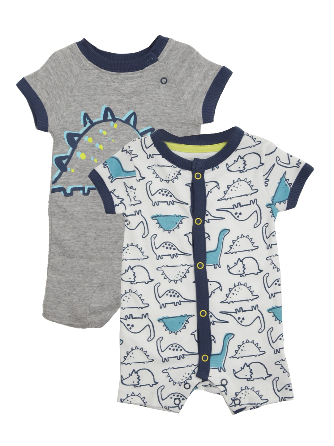 mothercare Boys Pack of 2 Printed Rompers