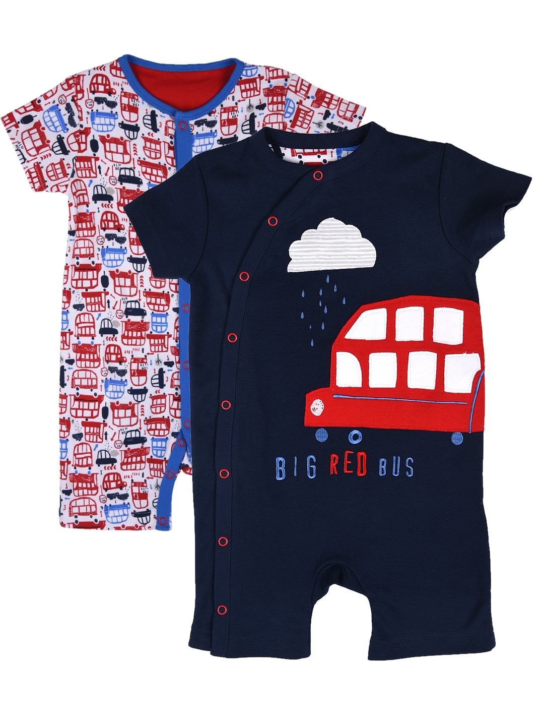 mothercare Boys Pack of 2 Rompers